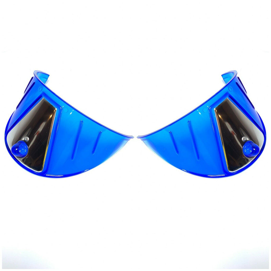 Pair Blue Plastic Headlight Visors - Fits 7'' Lights-Live Fast Supply Company