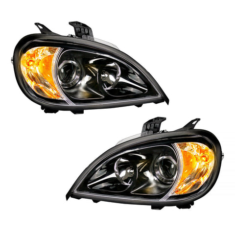 Image of Pair of Blackout Projection Headlights for 1996-2018 Freightliner Columbia