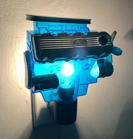 Ford Night Light - Blue w/ Gray & Black 427 SOHC Cammer Engine Replica - 2