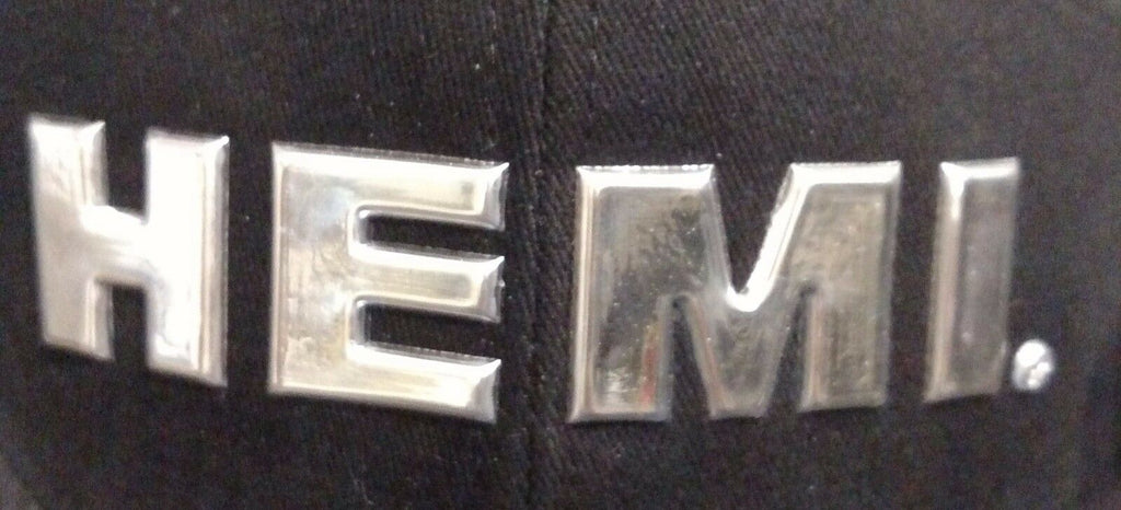 HEMI Hat - Black w/ Chrome Liquid Metal Logo - Emblem