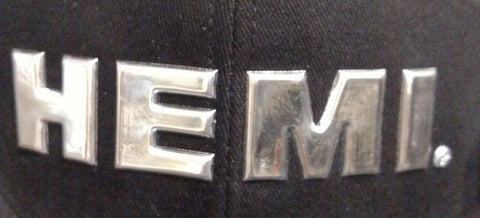 Image of HEMI Hat - Black w/ Chrome Liquid Metal Logo - Emblem