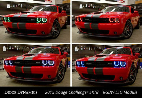 Pair LED Halos for 2015-2019 Dodge Challenger - Multi Color w/ Bluetooth Control