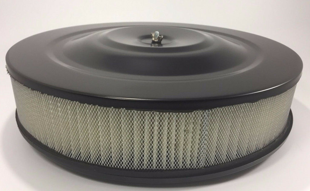 Black Air Cleaner Assembly 14'' X 3'' (Round, Fits 5-1/8'' Carburetors)