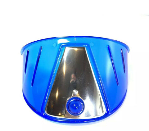 Image of Pair Blue Plastic Headlight Visors - Fits 7'' Lights-Live Fast Supply Company