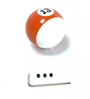 Pool Ball Gear Shift Knob (Stripes Orange, Number 13)-Live Fast Supply Company