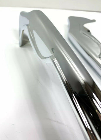 Image of Chrome Rear Bumper Guards For 1965 Chevrolet Impala, Bel Air & Biscayne - 2