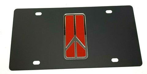 Oldsmobile Rocket Emblem Vanity License Plate - Black