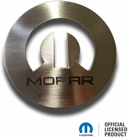 Image of Dial Shift Knob Trim with MOPAR Logo for 2015+ Dodge Vehicles - Stainless Steel - 1