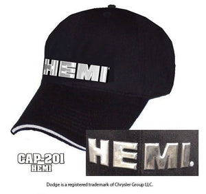 HEMI Hat - Black w/ Chrome Liquid Metal Logo - Main