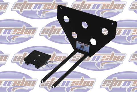Image of Sto N Sho License Plate Bracket for 2017-19 Porsche Panamera (Removable / Metal) - 1