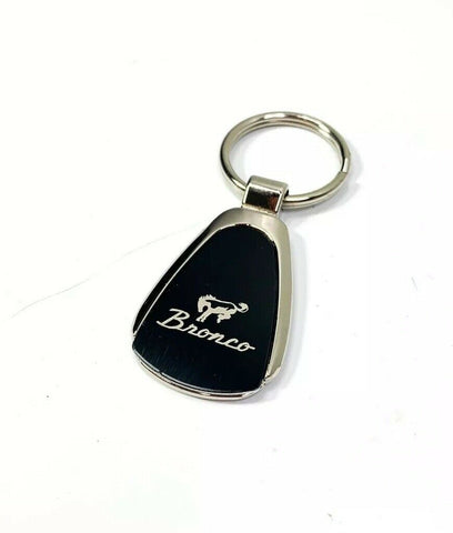 Image of Ford Bronco Keychain - Black & Chrome Teardrop - Front 2
