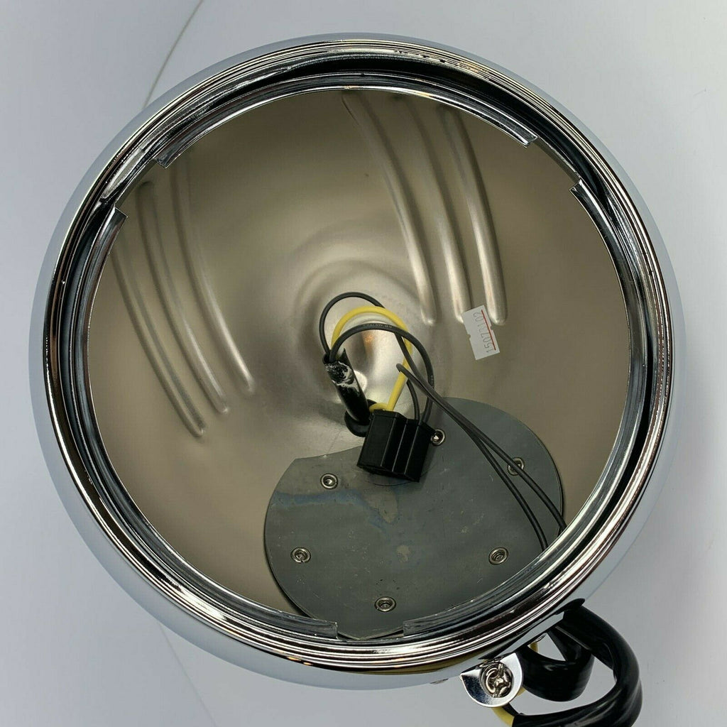 "7"" Grooved Chrome Motorcycle Headlight Bucket - Fits: Harley-Live Fast Supply Company"