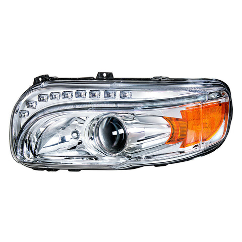 Pair of Projection Headlights with LED Light Bar & Turn Signals for Peterbilt 388/389 - 5
