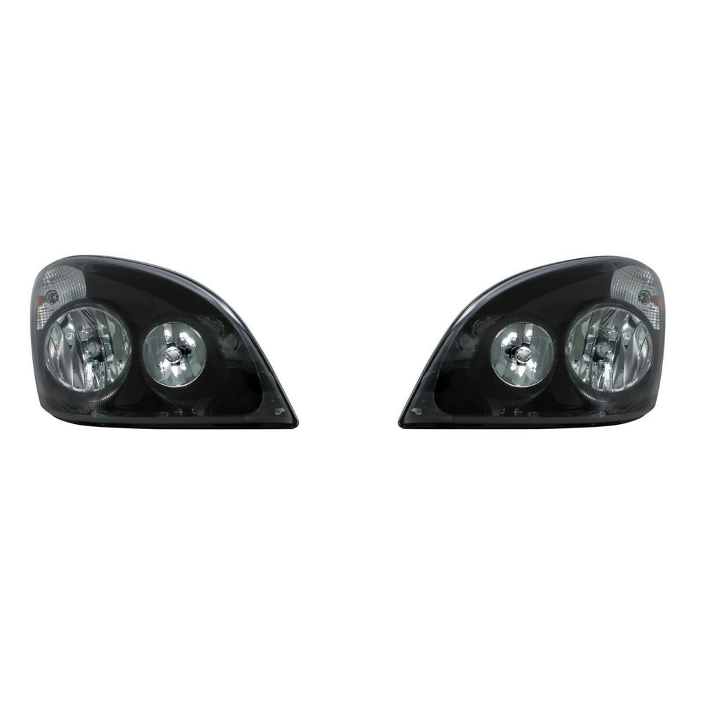 "Pair ""Blackout"" Headlight Assembly Housings for 2008-2017 Freightliner Cascadia - 1"