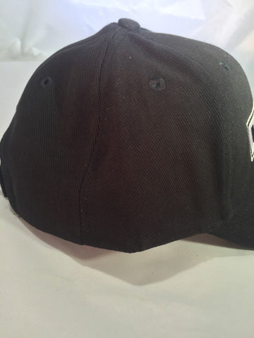 Image of Dodge Hemi Hat - Black w/ White & Black Logo - Side