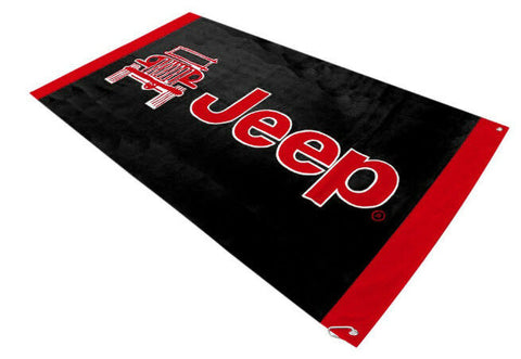 Pair of Jeep Seat Cover Towels - Red & Black Universal Seat Protectors - 2