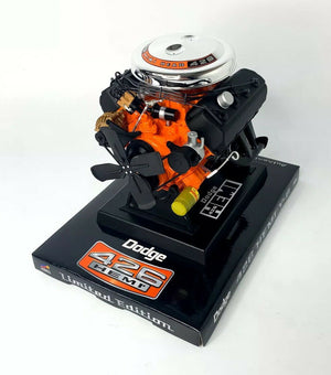 Model Engine 1:6 Scale Replica Diecast Of Orange Dodge HEMI 426 Motor