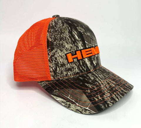 Image of Dodge HEMI Hat / Cap - Hunters Camo w/ Orange Emblem - 2