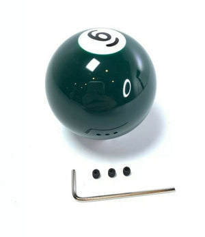 Pool Ball Gear Shift Knob (Solid Green, Number 6)-Live Fast Supply Company