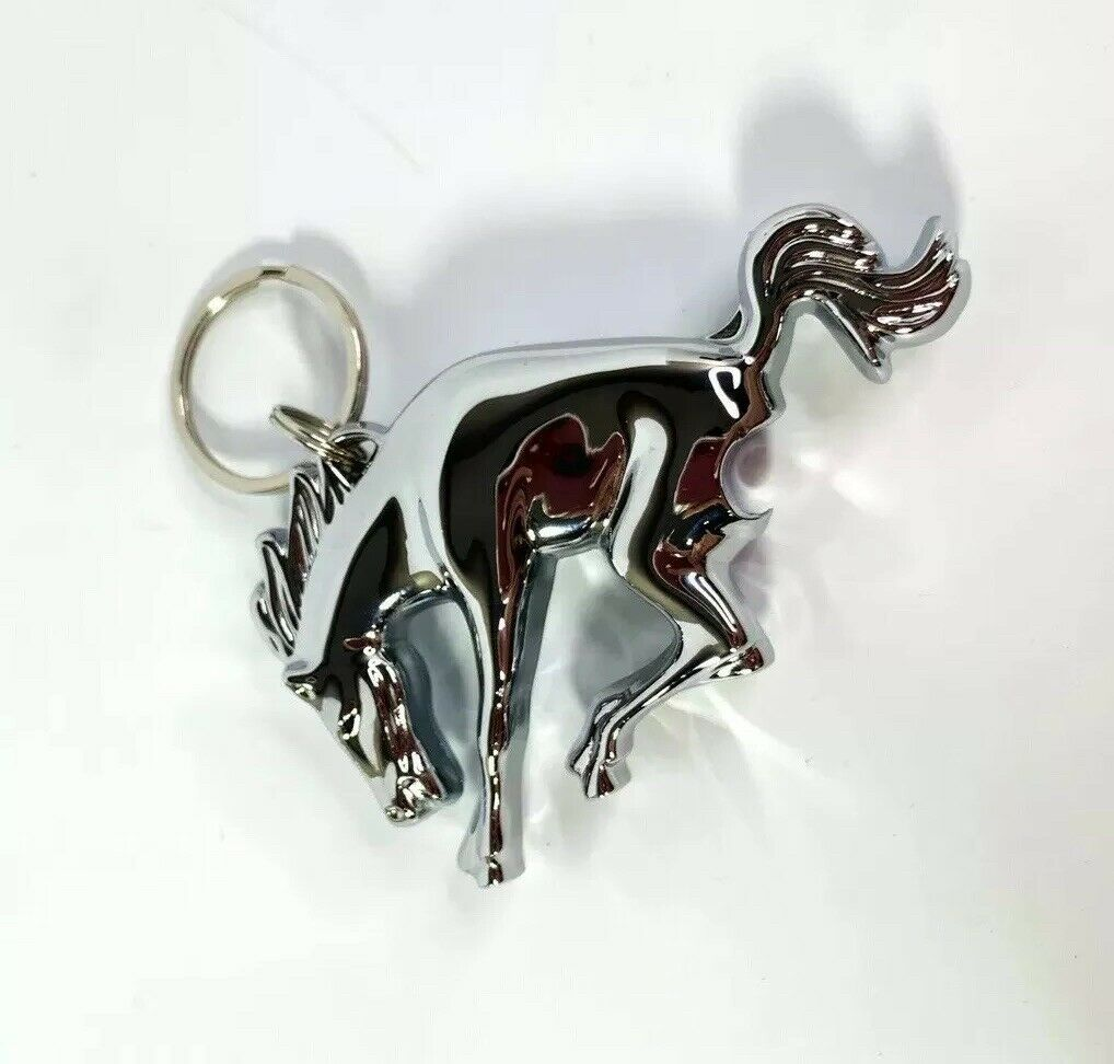 Ford Bronco Keychain - Chrome Bronco Emblem w/ Bottle Opener - Main