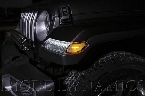2018-2019 Jeep Wrangler & 2020 Gladiator LED Clear Lens Turn Signals - 3