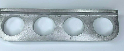 Image of Finned Under Dash Quadruple Gauge Panel - Unpolished Cast Aluminum - 2
