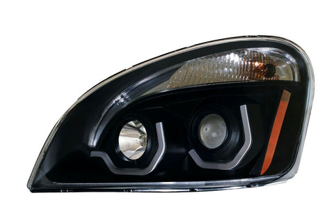 Image of Pair of Blackout Headlights with LED Position Lights for Freightliner Cascadia - 3