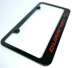 Dodge Durango R/T License Plate Frame - Black w/ Red Script - Main