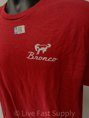 Ford Bronco T-Shirt - Red w/ 1st Generation 1966-1977 Off Road Emblem / Logo - 3