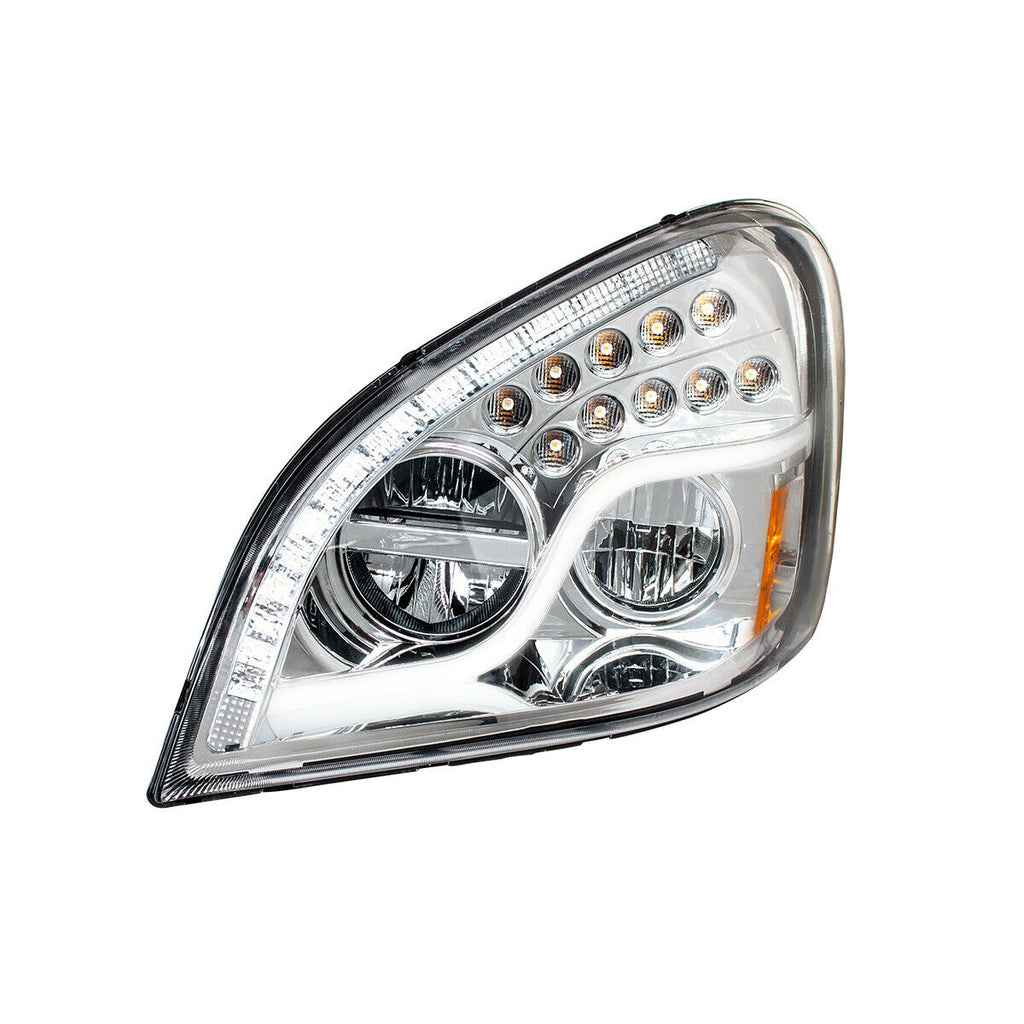 Pair of LED Headlights with Dual Function LED DRL & Turn for Freightliner Cascadia - 6