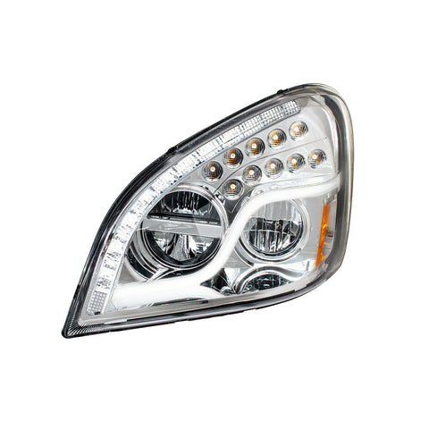 Image of Pair of LED Headlights with Dual Function LED DRL & Turn for Freightliner Cascadia - 6