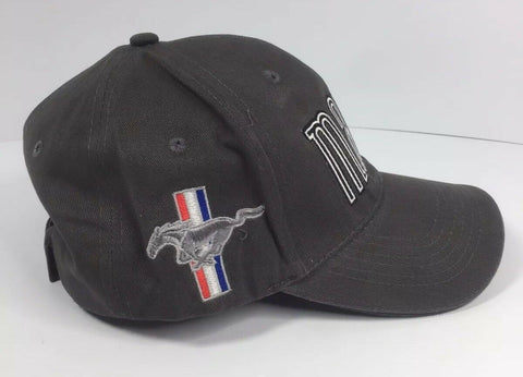 Ford Mustang Hat - Mach 1 Gray with Pony Tri Bar Logo - Right