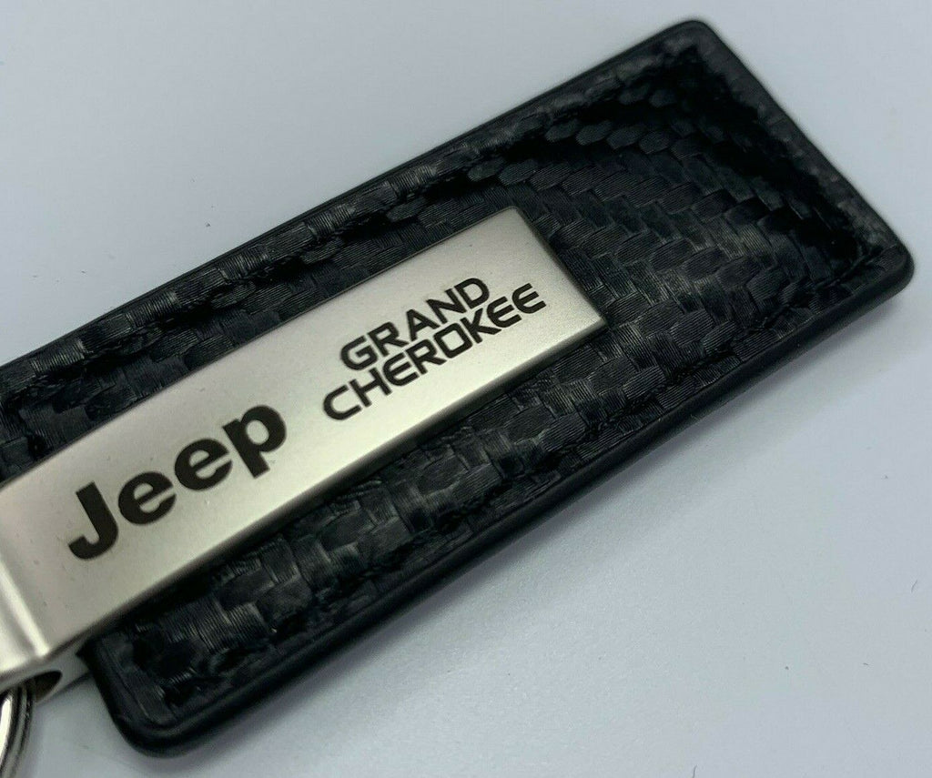 Key Chain for Jeep Grand Cherokee - Carbon Fiber Black Leather-Live Fast Supply Company