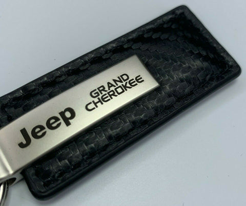 Image of Key Chain for Jeep Grand Cherokee - Carbon Fiber Black Leather-Live Fast Supply Company