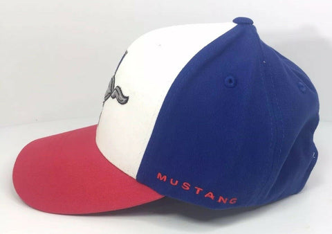 Ford Mustang Hat - Red White and Blue Tri Bar Pony Logo - Mustang