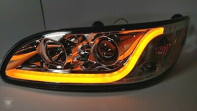 Peterbilt Projection Headlights Dual Function LED Light Bar - Amber