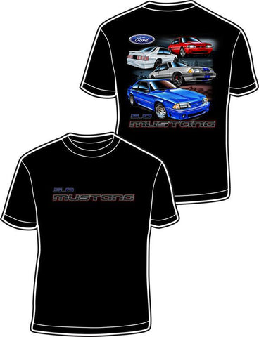 Ford Fox Body 5.0 Mustang T-Shirt - Front & Back