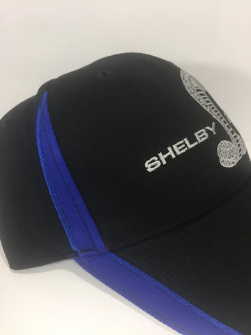 Image of Ford Mustang GT500 Hat - Black with Cobra Snake (Side)