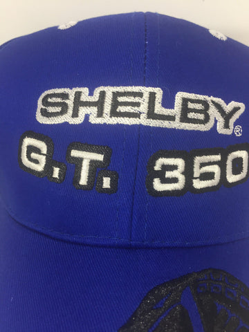 Image of Ford Mustang Hat - Shelby GT350 with Cobra on Bill (Logo)