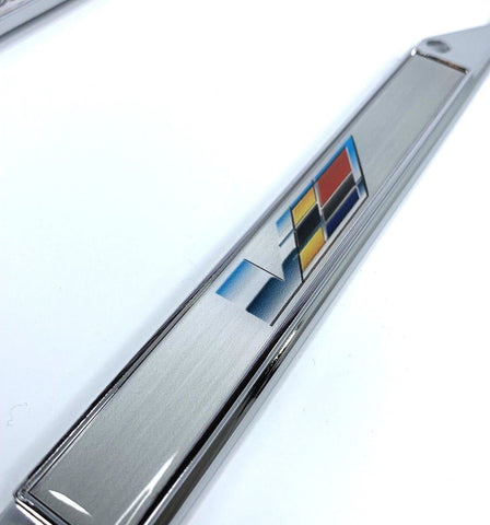 Image of Cadillac V-Series License Plate Frame - Chrome with Emblem (Logo)
