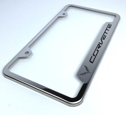 Chevrolet Corvette C7 License Plate Frame - Chrome (Main)