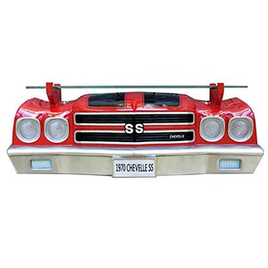 1970 Chevy Chevelle SS Wall Shelf - Red w/ Black Stripes - Main