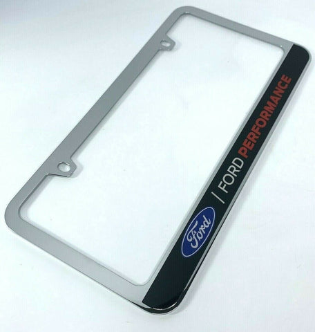 Ford Performance Chrome Premium License Plate Frame-Live Fast Supply Company