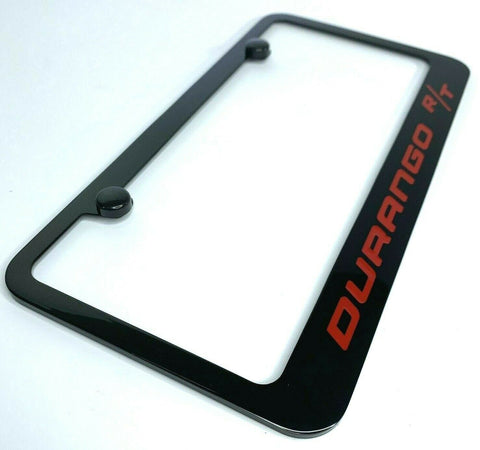 Dodge Durango R/T License Plate Frame - Black w/ Red Script - Frame