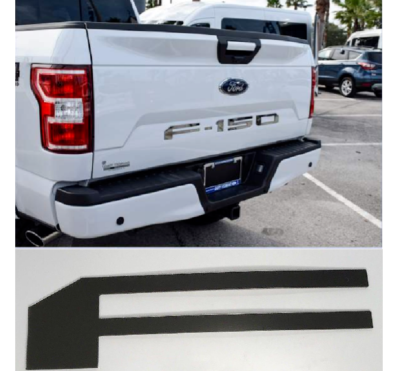 2018-2019 Ford F150 Tailgate Letter Inserts - Chrome - Main