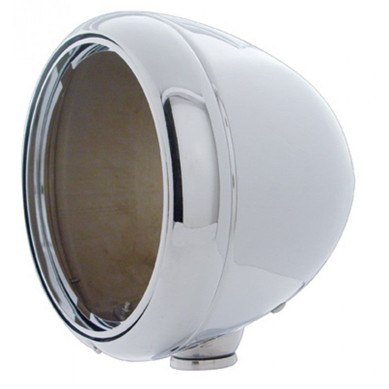 Guide Style Headlight Housing - Metal with Chrome Finish (Main)