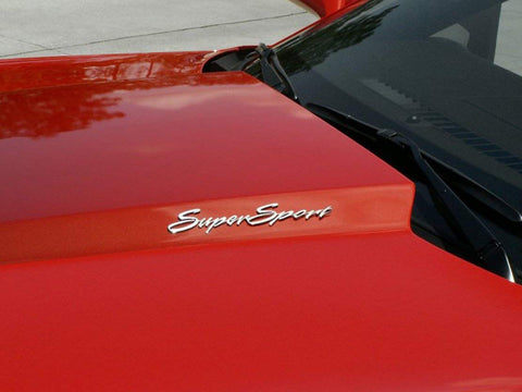 Image of Pair of 2010-2015 Super Sport Emblems - Polished Stainless Steel - Side