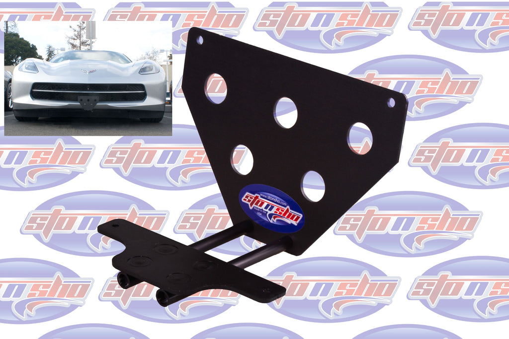 Removable, No Drill License Plate Bracket for 2014-2019 Chevrolet Corvette Stingray & Grand Sport - Parts 1