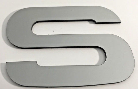2017-2020 Ford Super Duty Tailgate Letter Inserts - Chrome - S