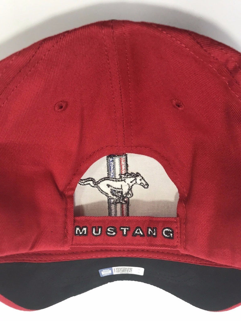 Classic Ford Mustang Hat with Tri Bar Pony Logo (Back)